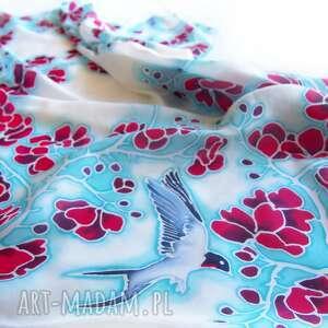 kwiaty głogu chustki i apaszki apaszka z jedwabiu typy krepa