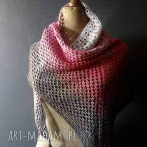 chusta różowe bawełniana ombre