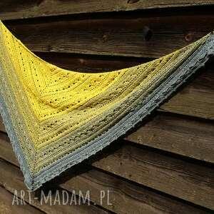 żółte chusta letnia mgła ombre
