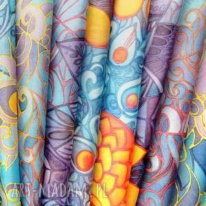 atrakcyjne chustki i apaszki szal jedwabny duży ręcznie malowany