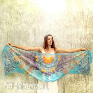 atrakcyjne chustki i apaszki jedwab malowany duży szal jedwabny ręcznie