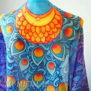 jedwab malowany chustki i apaszki duży szal jedwabny ręcznie