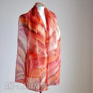 handmade chustki i apaszki jedwab jedwabny malowany szal - szaleństwo