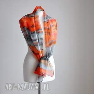 handmade chustki i apaszki jedwabny szal, malowany