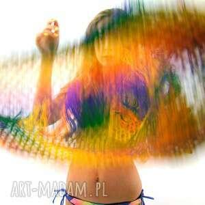 chustki i apaszki dodatek kolorowa chusta ażurowa z frędzlami
