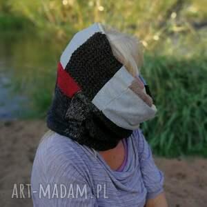 ręczne wykonanie chustki i apaszki komin damski szyty patchworkowo
