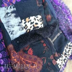chustki i apaszki: komin damski szyty patchworkowo handmade - kolorowy