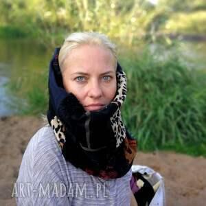 Ruda Klara chustki i apaszki: komin damski szyty patchworkowo handmade - kolorowy