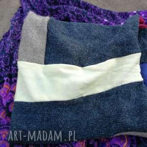 ręczne wykonanie chustki i apaszki ciepły komin damski szyty patchworkowo