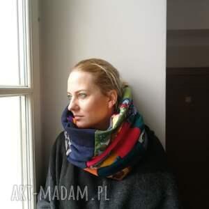 Ruda Klara chustki i apaszki: komin patchwork etno damski kolorowy folk
