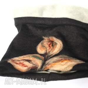 chustki i apaszki zima komplet damski wełniany filcowany