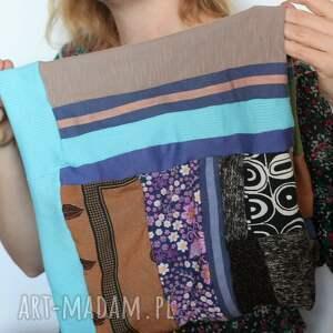urokliwe chustki i apaszki czapka komplet patchworkowy kolorowy