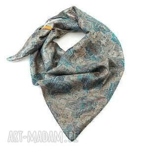 hand-made chustki i apaszki srebro szal komin trójkątna chusta