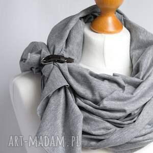 szal chustki i apaszki chusta bawełniana z zapinką