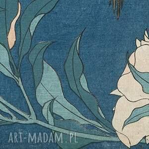 ręcznie zrobione chustki i apaszki hokusai szal - hokusai, kwiaty