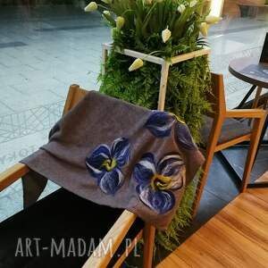szare chustki i apaszki chusta szara handmade wełniana