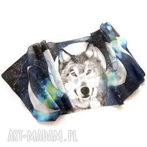 chustki i apaszki wilk i fazy księżyca - ręcznie