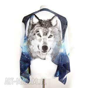 czarne chustki i apaszki fazy księżyca wilk i - ręcznie