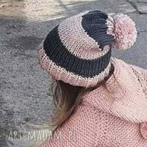 gustowne czapka pink-gray