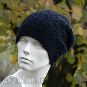 wyjątkowe czapki boucle alpaca efektowna zimowa