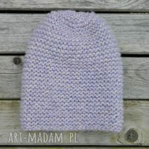 fioletowe czapki pastelowa alpaca * szlachetna czapka piękny