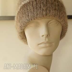 wełniana czapki alpakowa czapka w brązach