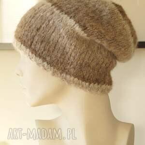 awangardowe czapki alpaka czapka wykonana ręcznie na drutach z bardzo