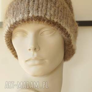 MonDu dziergana alpakowa czapka