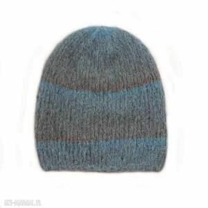 czapki alpakowa czapka niebieska