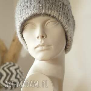 czapki alpaka alpakowa czapka szara