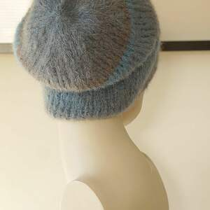MonDu czapki paski alpakowa czapka niebieska