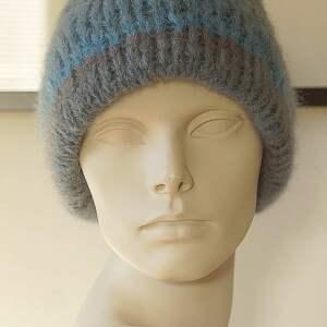 alpakowa czapki czapka niebieska