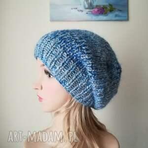 niesztampowe czapki rękodzieło bardzo ciepła, grubaśna, niezwykle miła