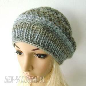 czapki beret ażurowy