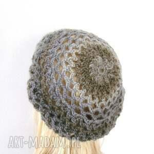 czapka czapki ażurowy beret