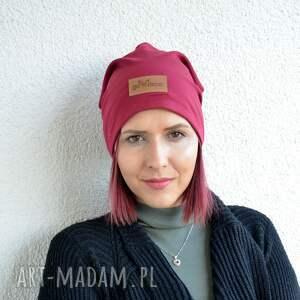 gustowne czapki czapka bordowa beanie