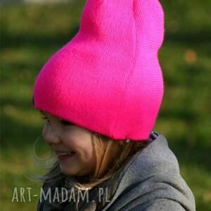 ręcznie robione czapki czapka bunny pinky