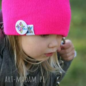 ręcznie robione czapki beanie bunny pinky