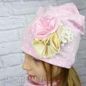czapki czapka cienki komplet dla dziewczynki
