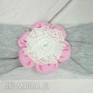 handmade czapki dziewczynka cienki komplet dla dziewczynki