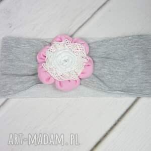 czapka różowe cienki komplet dla dziewczynki