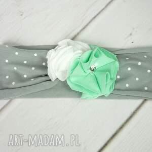 czapka czapki zielone cienki komplet dla dziewczynki