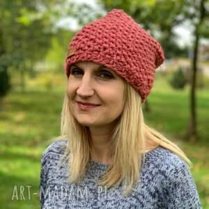 ciepła czapka z merino - ręcznie zrobione