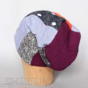 niepowtarzalne czapki czapka ciepła na podszewce szyta