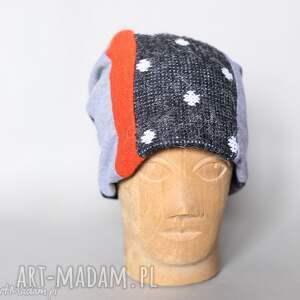 czapki etno ciepła czapka na podszewce szyta