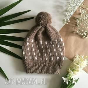 handmade czapki czapka ciepła wełniana