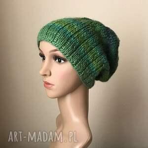 zielone czapki czapka ciepłe morze czapa