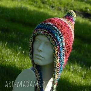 unikatowe czapki kolorowa czapa * boho elf