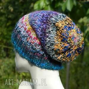 kolorowa czapki czapa boho mix multicolor
