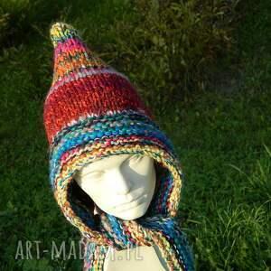 kolorowa czapki kolorowe czapa * boho elf